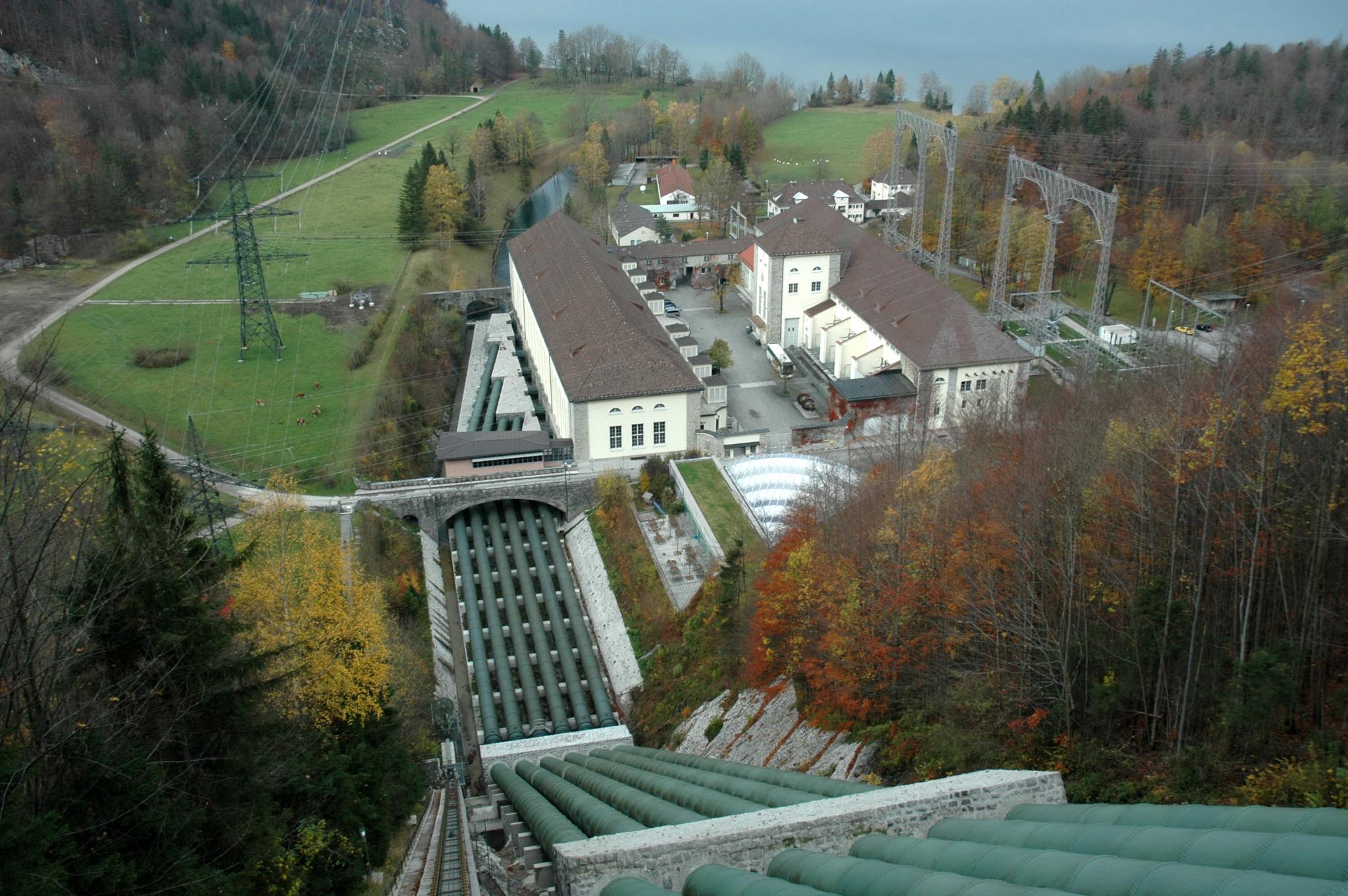 Das Walchenseekraftwerk.